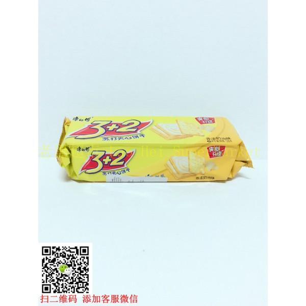 康师傅 3+2苏打夹心饼干(奶油味) 125g