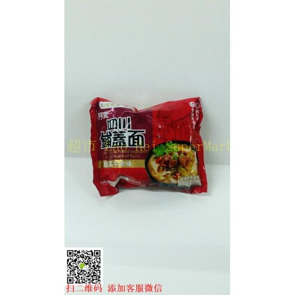 阿宽 四川铺盖面 酸菜牛肉味135g