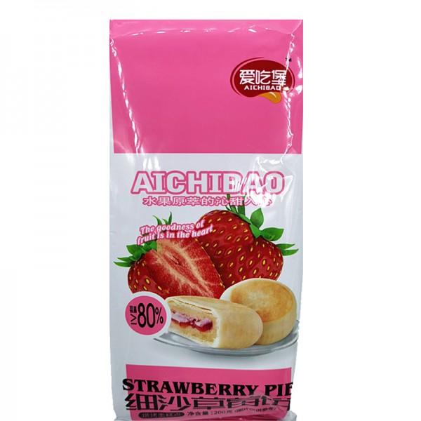 爱吃堡 细沙草莓饼 200g