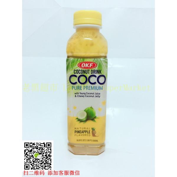 韩国OKF 椰果汁 (菠萝味)500ml