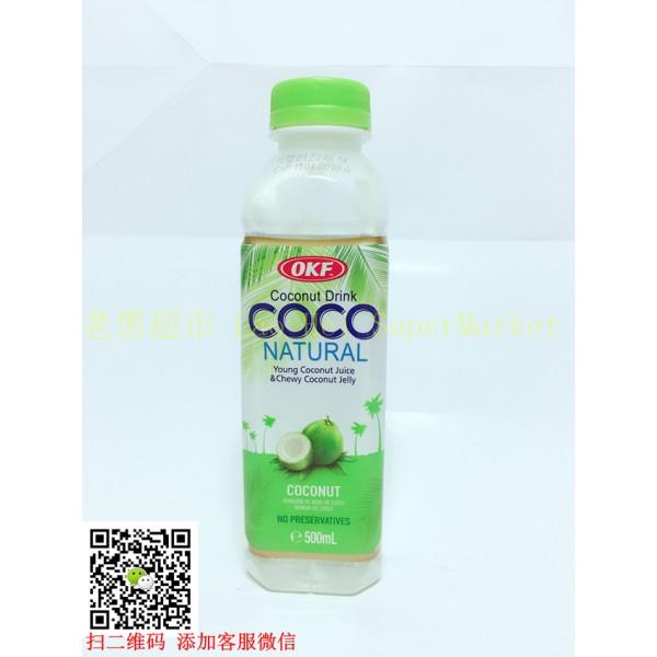 韩国OKF 椰果汁 (原味)500ml