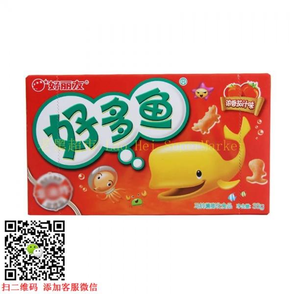 好丽友 好多鱼 (浓香茄汁味)33g