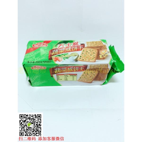 万士发 蔬菜咸饼干200g